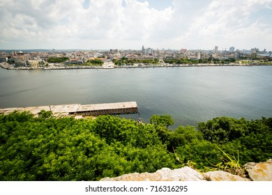 A view of Havana, Cuba from across the bay. 2017