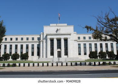 View of the headquarters of the Federal Reserve in Washington, D.C.