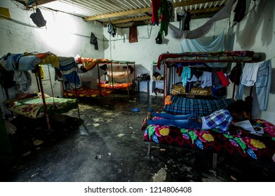 View of the headquarters of the peasant youth home in Mutata, located in the Urabá Antioqueño, this serves as a shelter for the student children of the region. September 2018. Antioquia, Colombia.