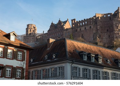 View at the Heidelberg Castle from the central district