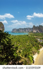 View from height of beach Rayleigh, Krabi Province, Thailand