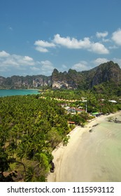 View from the height of Rayleigh Beach, Krabi Province, Thailand