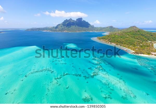 View Helicopter Mount Otemanu Bora Bora Stock Photo Edit