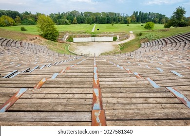 View Hellenistic Theater at the Archaeological Site of Dion. Pieria, Macedonia, Greece