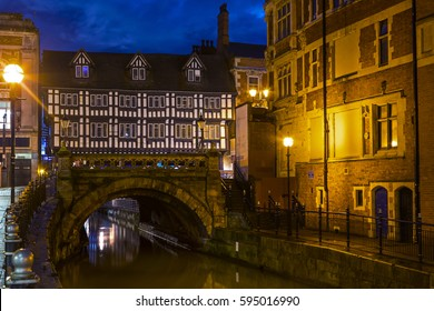 A view of High Bridge in the historic city of Lincoln, UK.