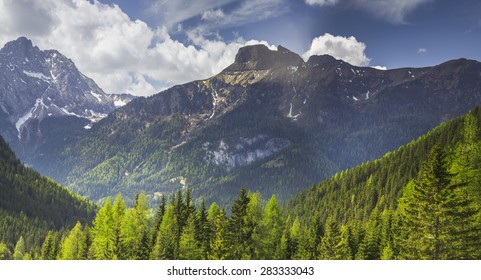 View of the high mountains - Dolomites