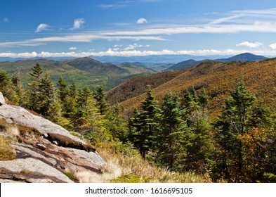 View of the High Peaks in the Adirondacks from Cascade Mountain