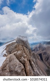 A view of the highest mountain in the Dolomites - Marmolada