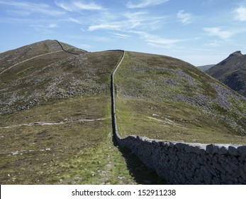 view of the highest mountain in Northern Ireland Slieve Donnard