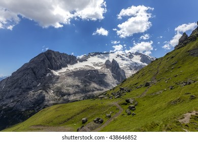 A view of the highest peak in the Dolomites - Marmolada