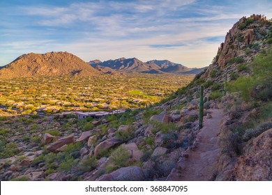 View from Hiking Trail on Pinnacle Peak Mountain in Scottsdale, Arizona