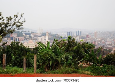 view from a hill to kampala uganda