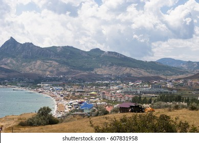 View from the hill. Koktebel city, Crimea, Ukraine