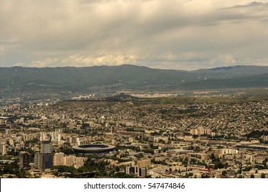 View from the hill on the capital of Georgia Tbilisi.