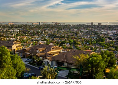 View from Hilltop Park, in Signal Hill, Long Beach, California.