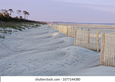 A view of  Hilton Head Island efforts to protect the beach sand dunes as Sea Turtle nesting season approaches.