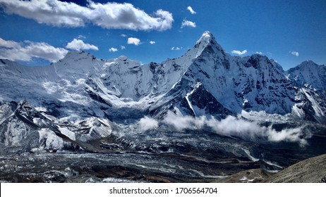 View of Himalayas from Chukhung ri, Everest conservation area, Nepal