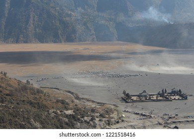 A view of a Hindu Temple called Pura Luhur Poten in Mount Bromo, Tengger Massif, East Java Indonesia