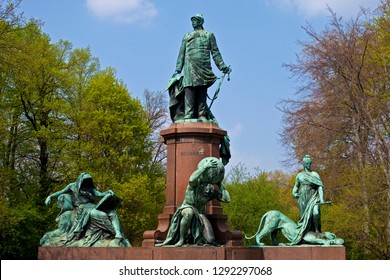 A view of the historic Bismarck Memorial in the Tiergarten in Berlin, Germany.  It is dedicated to Prince Otto von Bismarck, the first Chancellor of the German Empire.