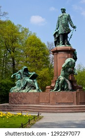 A view of the historic Bismarck Memorial in the Tiergarten in Berlin, Germany.  It is dedicated to Prince, the first Chancellor of the German Empire.