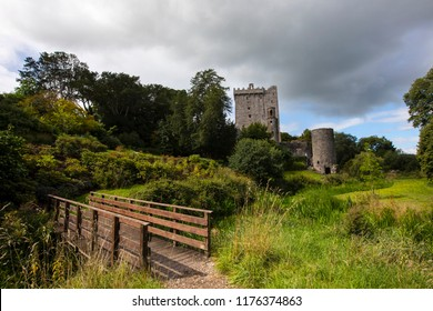 A view of the historic Blarney Castle, in the town of Blarney, Republic of Ireland.