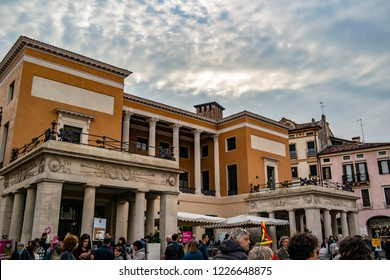 View of the historic building of the Caffè Pedrocchi in Padua. 4 November 2018 Padua, Veneto - Italy