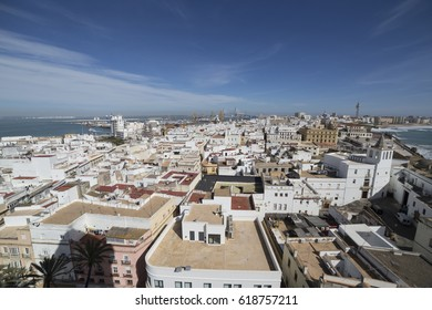 View of the historic center of Cadiz from the observation deck, take in Cadiz, Andalusia, Spain