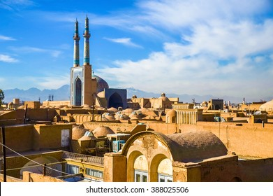View of the historic centre of Yazd - Iran