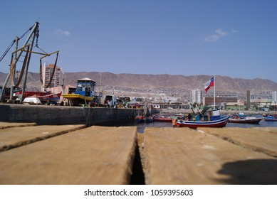 View from the historic dock towards the desert city of Antofagasta in northern Chile, permanently mentioned in the litigation on obtaining exit or access with sovereignty to the sea by Bolivia Feb 25