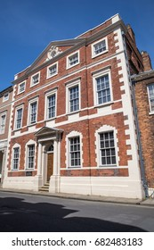 A view of the historic Fairfax House located on Castlegate in the city of York in England.