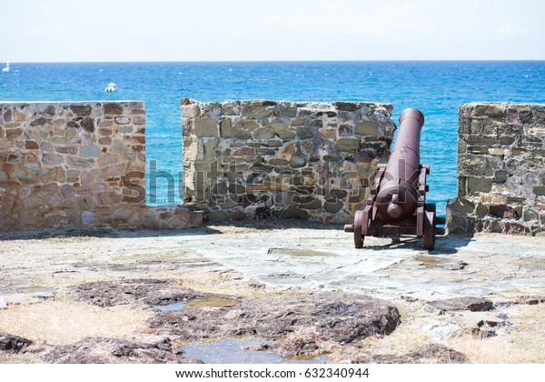 View of Historic Fort Structure on Top of Nelson's Dockyard, Antigua Island, Caribbean