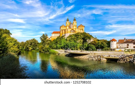 View of the historic Melk Abbey (Stift Melk), Austria