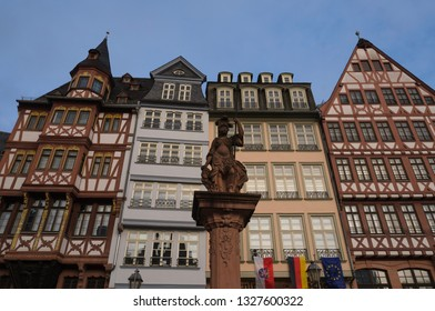 View of the historic old town of Frankfurt, Germany.