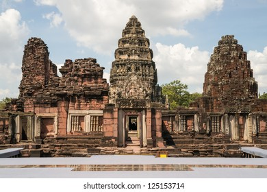 View of the historic Phimai Temple near Nakhon Ratchasima. The Khmer temples were built during the Angkor period and marked the northern reaches of the realm.