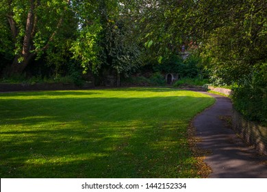 A view of the historic Quakers Burial Ground in the city of Bristol in England.