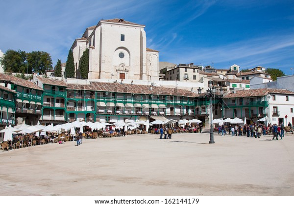 View of historic small town Chinchon near Madrid