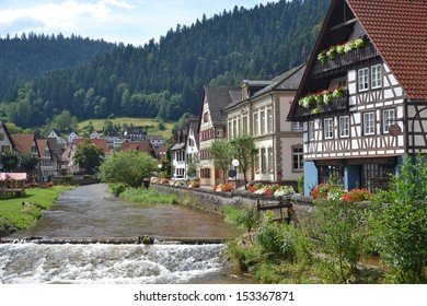view of historic town of Schiltach in Germany