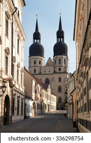 View from historic town Trnava, Beautiful city in Slovakia