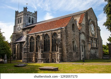 A view of the historic Waltham Abbey Church in Waltham Abbey, Essex. King Harold II who died at the Battle of Hastings in 1066 is said to be buried in the churchyard