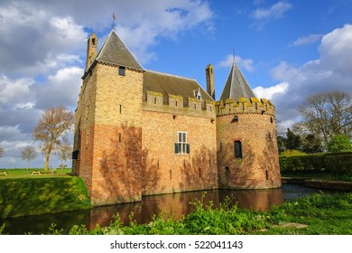 View of the historical castle of Radboud in  Medemblik, The Netherlands