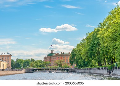 View of the historical center of St. Petersburg from the Fontanka river