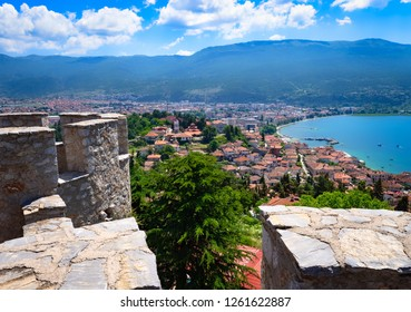 View from the  historical fortress of Tsar Samuel to Ohrid