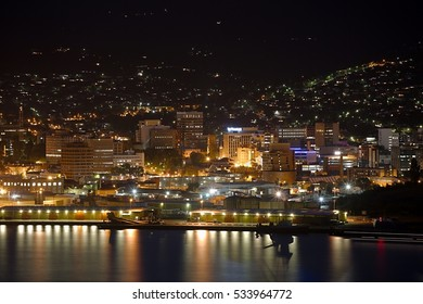 View of Hobart from across the river