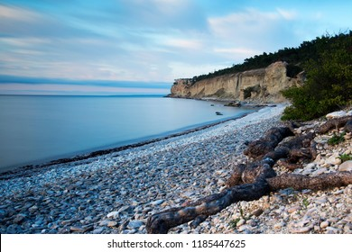 View from Hogklint over the eroded limestone coast on the island of Gotland