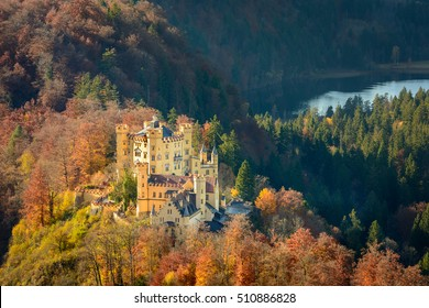 View of Hohenschwangau Castle in Fussen, Germany