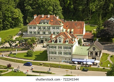 View of Hohenschwangau village. Bavaria. Germany