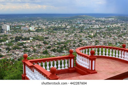 View to Holguin from Hill of the Cross in Cuba.