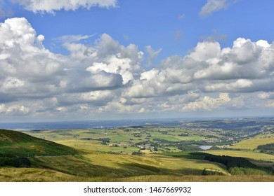 View from Holme Moss over the Holme Valley Huddersfield Yorkshire England 01/08/2019 by Roy Hinchliffe