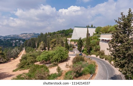 view of the holocaust memorial museum in Jerusalem from the entrance gate