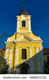 View at Holy Trinity catholic church in Sremski Karlovci, Serbia